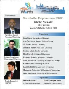 _shareholder empowerment PDW
